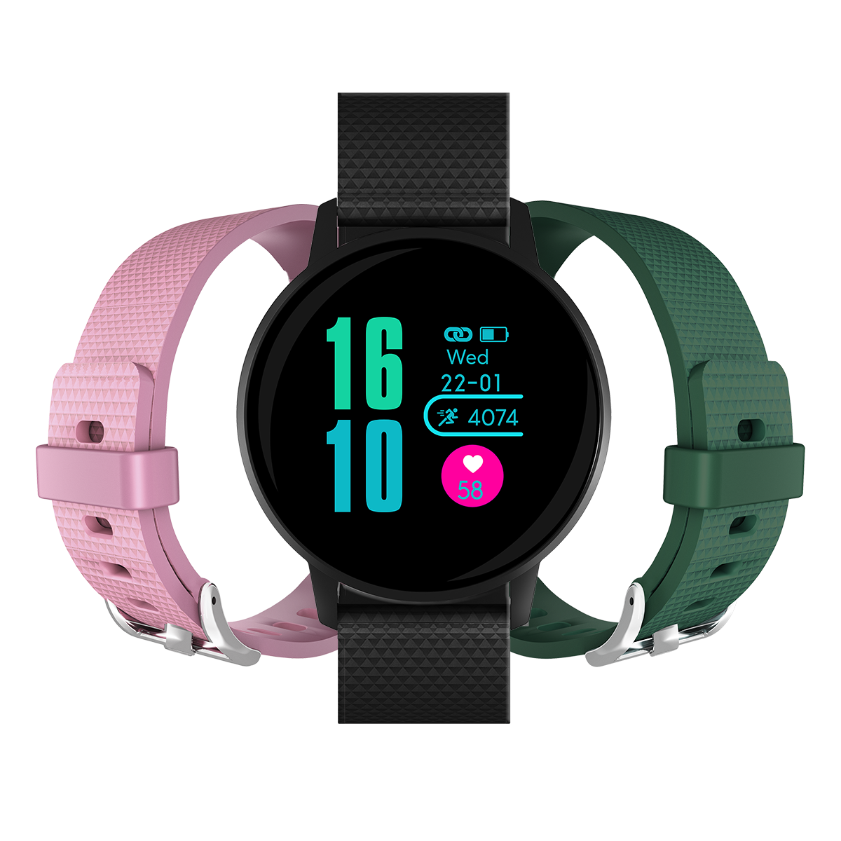MLS Watch G3 Active με δώρο πράσινο και ροζ λουράκι