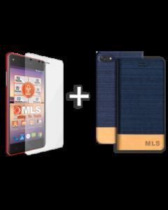 Flip Case Μπλε MLS Ruby 4G + Προστατευτική Μεμβράνη