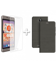 Flip Case Grey MLS MX 4G + Protective Film