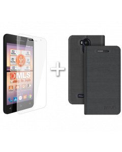 Flip Case Grey MLS F5 + Protective Film
