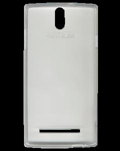 Θήκη σιλικόνης MLS iQTalk S8 Wood λευκή