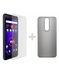 Θήκη σιλικόνης MLS Notch lite + protective film